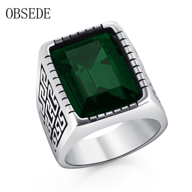 ring unique rings green p men product sterling stone silver s