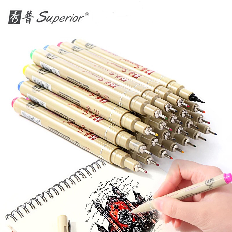 Superior 12 Colour Sketch Micron Needle Drawing Pen Fine Liner Drawing Brush Pen For Painting Art Markers алмазный брусок двусторонний extra fine fine hardcoat™ 1200 mesh 9 micron 600 mesh 25 micron dmt w8ef h wb