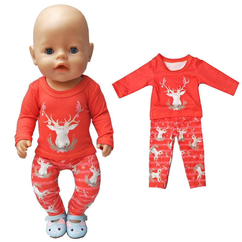 все цены на 18 inch girl doll clothes Fit 43cm Baby Born Doll clothes and pants children gifts онлайн