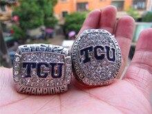 Envío de la gota 2014 2016 TCU Horned Frogs Grande 12 el Anillo de Campeonato Set 2 Juntos sólido recuerdo Deporte hombres fan regalo Envío gratis