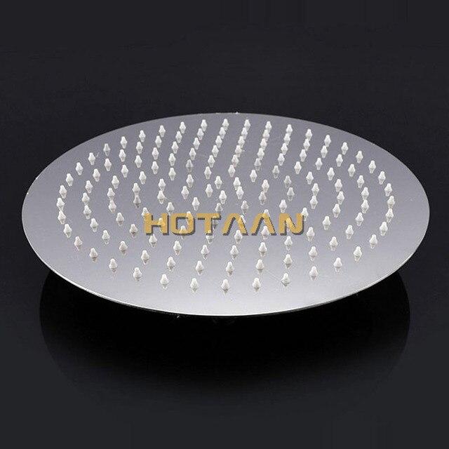 Livraison gratuite 12 pouces 30x30cm détail luxe rond douche de tête, pomme de douche en acier inoxydable, YT-5185 de douche de salle de bain