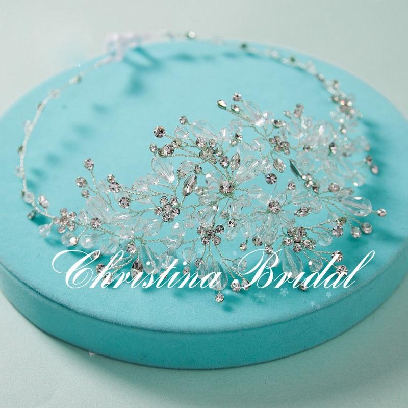 High quality  the bride hair accessories brides headband handmade pearl crystal  headwear