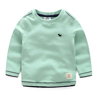 Baby Solid Color T Shirt 2016 Autumn Male Children S Child Clothing Child Casual Long Sleeve
