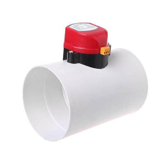 220V פלסטיק חשמלי מנחת לבדוק שסתום 110mm אוויר נפח בקרה שסתומים עבור אוורור צינור DEC11