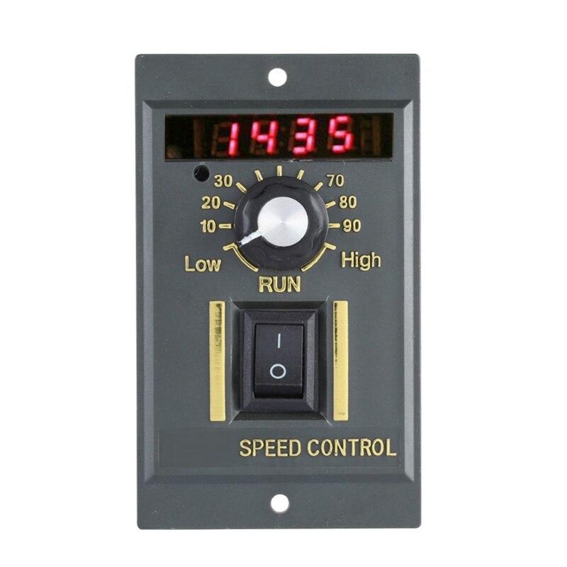 Image 2 - Ac 220V Motor Speed Controller 50Hz 250W Digital Adjustable Stepless Plc Motor Speed Controller 0 1450Rpm Speed Regulator-in AC Motor from Home Improvement