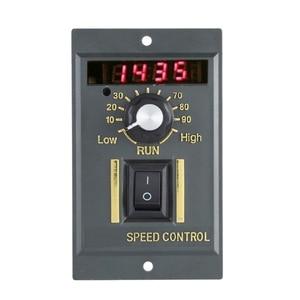 Image 2 - Ac 220V Motor Speed Controller 50Hz 250W Digital Adjustable Stepless Plc Motor Speed Controller 0 1450Rpm Speed Regulator
