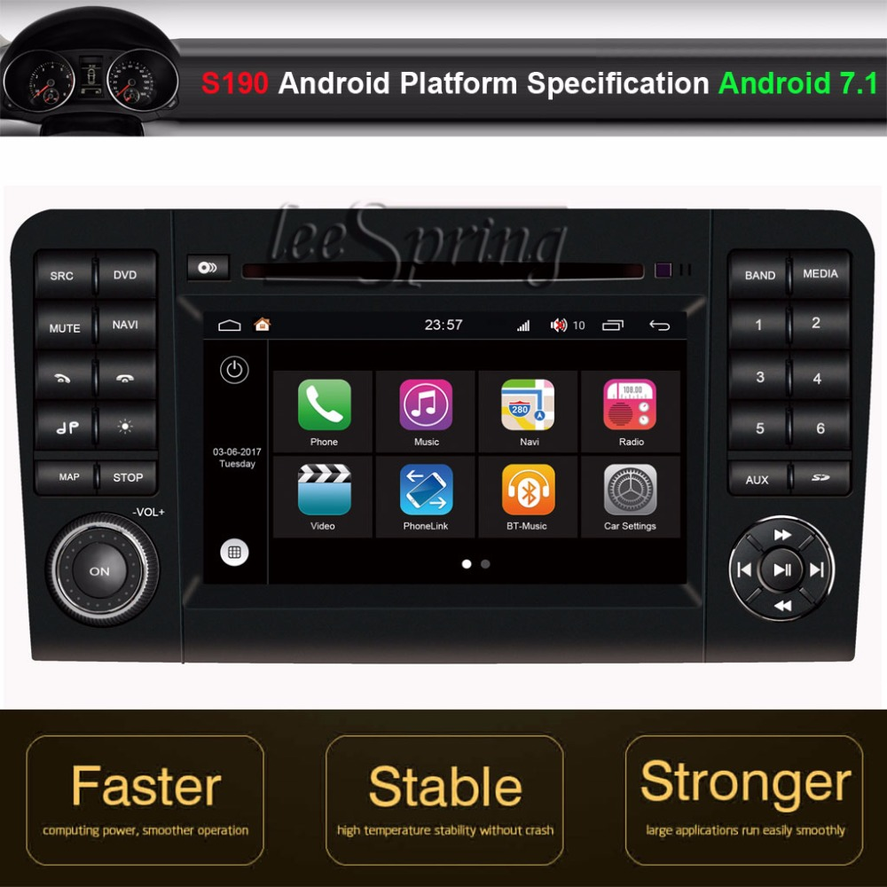 Android 7.1 Car DVD GPS Player for Mercedes-Benz ML W164(2005-2012)Benz GL X164(2005-2012)