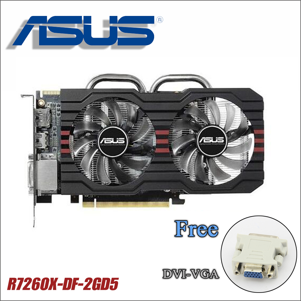 used Asus R7260X-DF-2GD5 power cable R7 260X 2G DDR5 128Bit PC Desktop Graphics video Cards R7260X R7 260 2GB GTX 750ti 750 1050 used asus r7 260x 2gb 128bit ddr5 gaming desktop pc graphics card 100% tested good