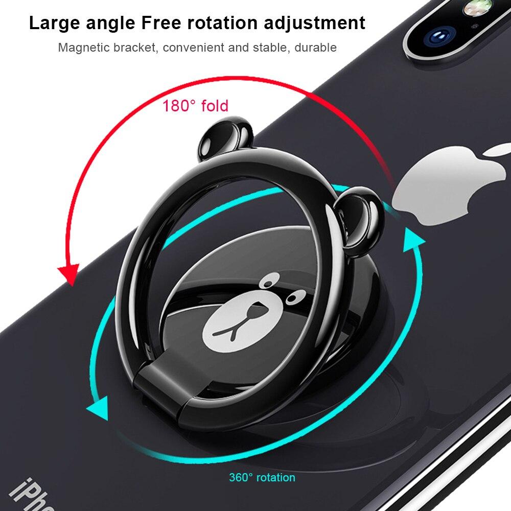 Plating Lovely <font><b>Bear</b></font> Brown <font><b>Phone</b></font> Holder Mobile Finger <font><b>Ring</b></font> 180 Degree Rotation Stand For iPhone 7 Samsung Xiaomi Pop Kickstand