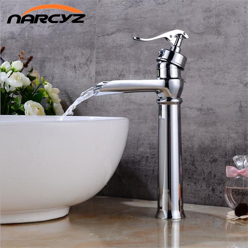 New Chrome waterfall faucet vintage basin Mixer Waterfall basin Faucet Bathroom Mixer Sink Tap Basin Faucet Vanity Faucets XT526 внешний контейнер для hdd 2 5 sata agestar sub2o1 usb2 0 красный