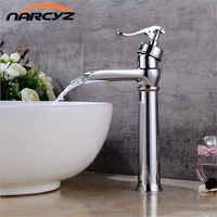 New Chrome waterfall faucet vintage basin Mixer Waterfall basin Faucet Bathroom Mixer Sink Tap Basin Faucet Vanity Faucets XT526