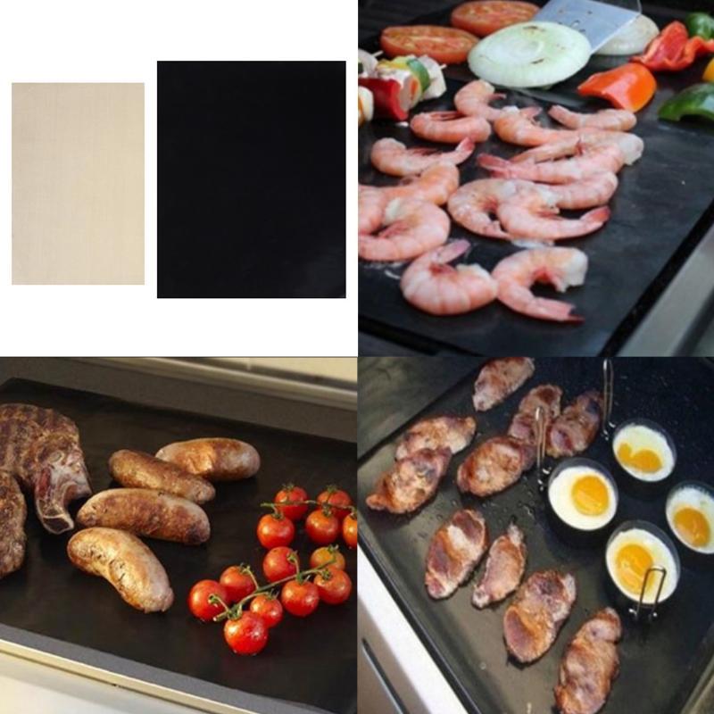 3 pz Resistente Al Calore Barbecue Grill Zerbino Riutilizzabile Cottura Non-Stick Barbecue Pad Wok Copriletto Cucina Pad Barbecue di Cottura zerbino s