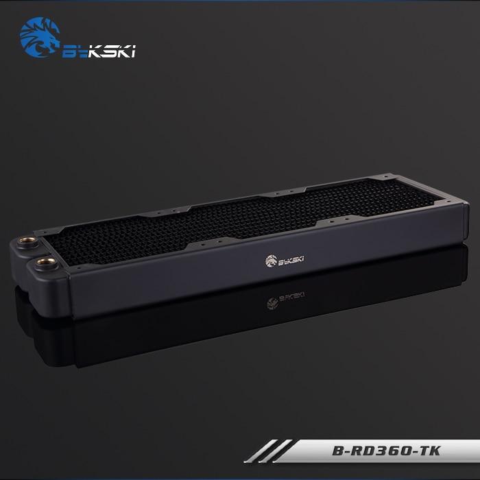 Bykski 38mm Thick 360mm Copper Computer Water Coolant Discharge Heat Sink Exchanger Radiator for 3*12cm Fan Raidator