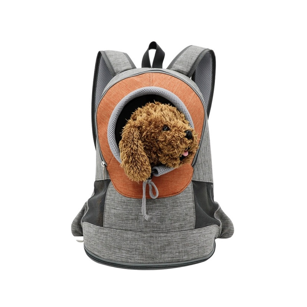 Pet Carrier <font><b>Backpack</b></font> Breathable Outdoor Kitten Carrying Bag for Kitty Puppy WXV Sale image