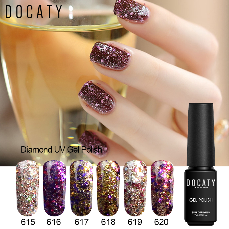 Docaty Varnishes For Nails Paint Enamels 3d Design For Nails Diamond Uv Gel For A Manicure