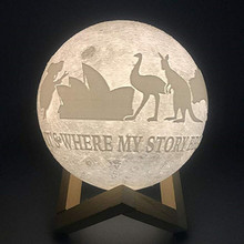 Creative Moon Shaped Customized USB Night Lamp