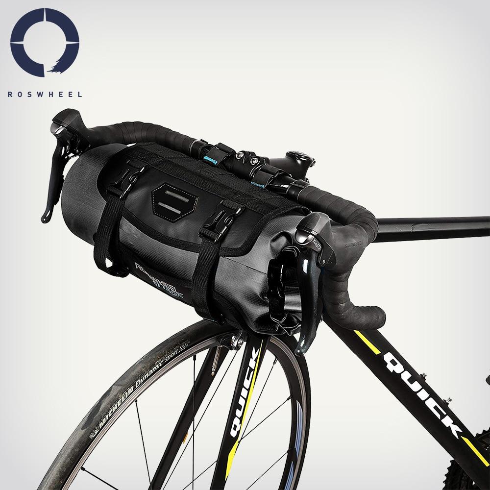 3L-7L Adjustable Bike Handlebar Bag Bicycle Cycling Pannier Dry Pack Waterproof