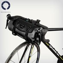 Roswheel 7L עמיד למים מתכוונן קיבולת אופני אופניים רכיבה על אופניים כידון תיק טנא להסרה יבש חבילה התקפה סדרת 111369