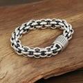 S925 men's fashion wholesale silver jewelry handmade silver explosion bold personality retro  Bracelet