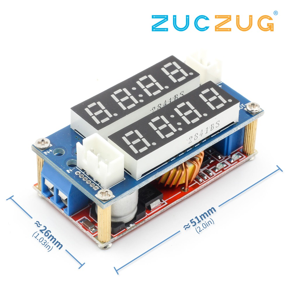 2 In 1 XL4015 5A Adjustable Power CC/CV Step-down Charge Module LED Driver Voltmeter Ammeter Constant Current