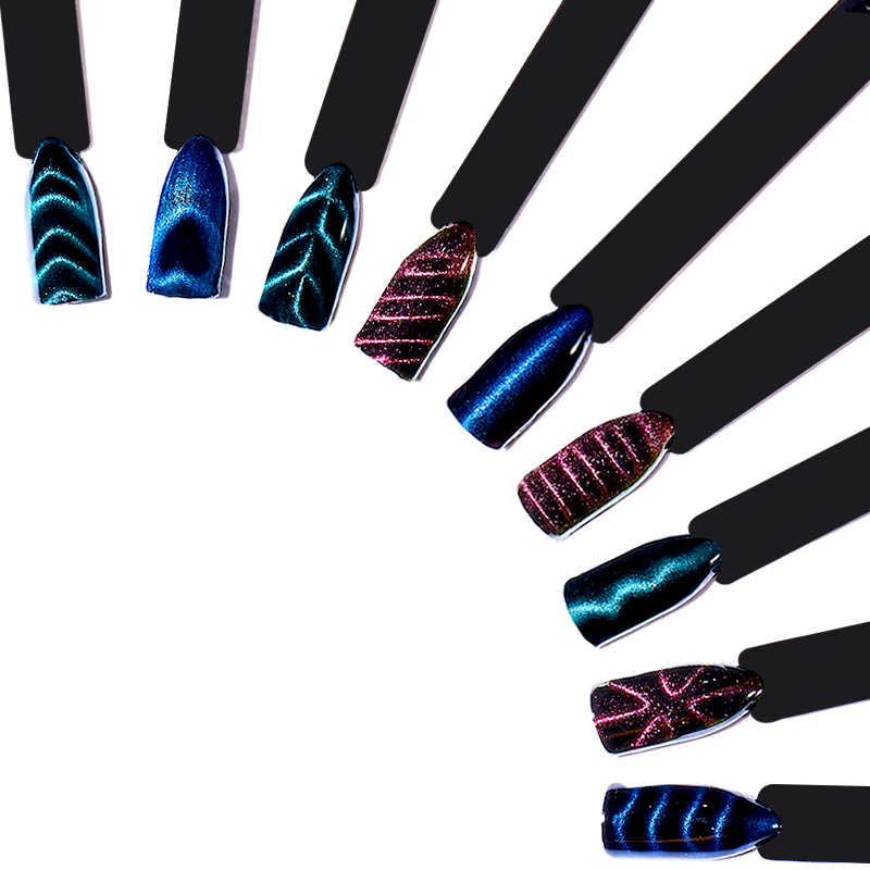 T-TIAO Klub Cat Eye Magnet Stick Campuran Bentuk Sihir Efek Magnet Tongkat untuk Lukisan Uv Gel Nail Polish Lampu UV untuk Gel Varnish