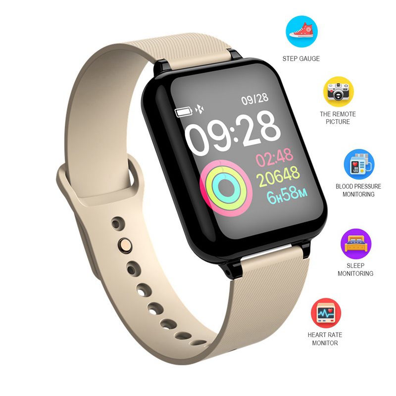 B57 Smart Wristband Bluetooth Heart Rate Blood Pressure Blood Oxygen Detector Alarm Clock Men Sport Smart Watch Wearable Watch
