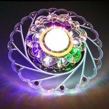 Modern Crystal LED Ceiling Light Circular Colorful Chandelier For Living Room Aisle Corridor 110-240V 3W
