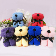 New 1pc Dog Cake Shape Towel Cotton Washcloth Wedding Gifts Present 1V7M Christmas Gift 6LDW