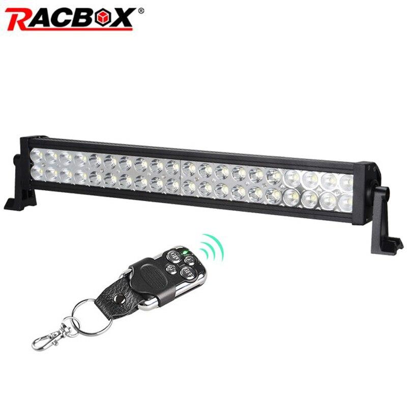 120 W 22 inch OffRoad LED barre de lumière de travail lampe de conduite blanche 9600LM faisceau combiné pour 4x4 ATV SUV MPV 4WD bateau camion tracteur lumière
