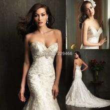 Vestidos De Noiva 2015 Lace Backless Mermaid/Trumpet Wedding Dresses Bridal Gown Sexy Noivas Robe Mariage
