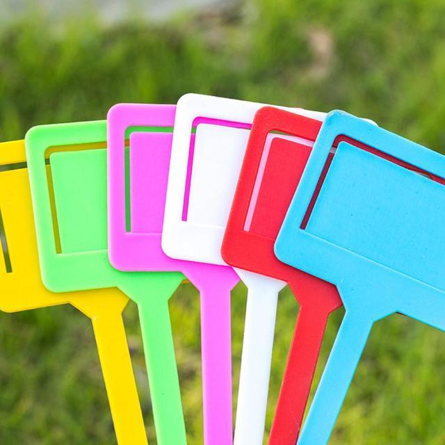 10x Giardino PP Etichette di Plastica T-tipo di Giardino Giardinaggio Etichetta