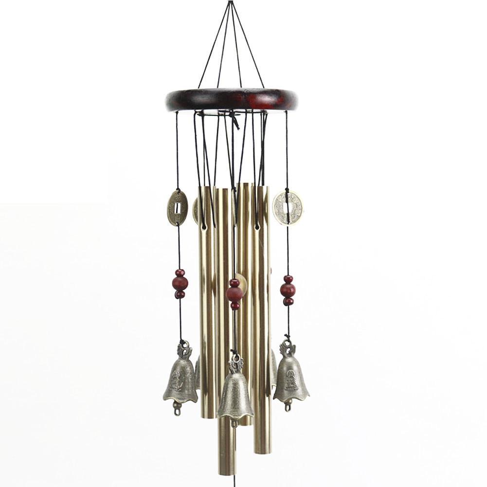 Dream Catcher Metall Holz Legierung Kupfer Glocke Windspiel Kreative Hause Dekoration Chime Auto Innen Wind Glocke