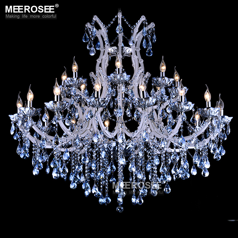 Aliexpress Luxurious Blue Color Maria Theresa Crystal Chandelier Lamp Light Lighting Fixture Large White Ers D1200mm H1000mm From