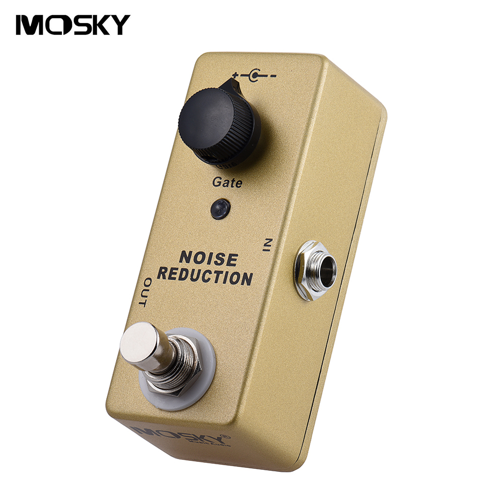 High Quality MOSKY Noise Gate Mini Guitar Effect Pedal True Bypass with Single Gate Knob Set the Volume Threshold aroma adr 3 dumbler amp simulator guitar effect pedal mini single pedals with true bypass aluminium alloy guitar accessories