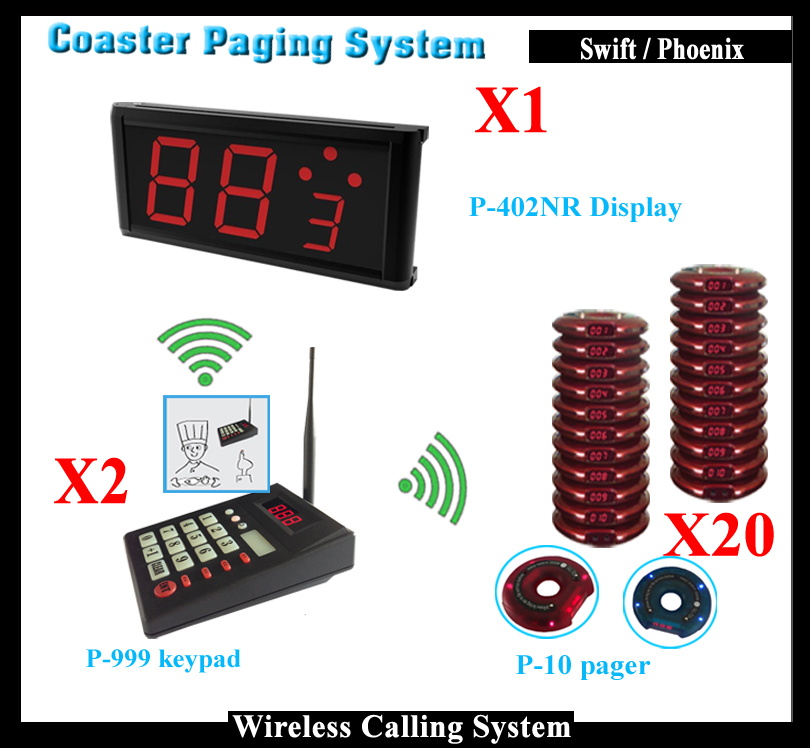(Call Buzzer Transmitter + Guest Coaster Pagers + Customer Display) Wireless Queue Management System For Fast Food Restaurant wireless pager system 433 92mhz wireless restaurant table buzzer with monitor and watch receiver 3 display 42 call button