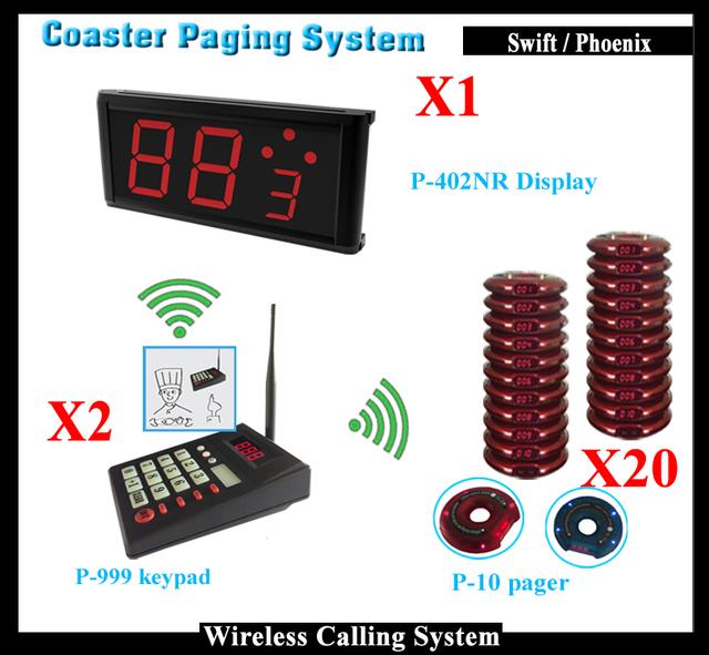 (Chamada Transmissor Buzzer + Convidado Pagers Coaster + Visor Do Cliente) Sistema de Gestão Da Fila Sem Fio Para O Restaurante Fast Food