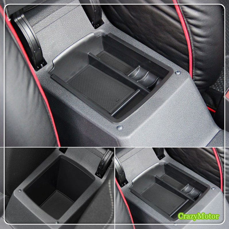 For VW Volkswagen Golf 7 MK7 2013-2018 / Golf 7 Sportsvan 2017 2018 Car Armrest Storage Box Glove Box Container Tray case real carbon fiber mirror cover case for vw golf 7 mk7 gti tsi vii jdm 2013 2015 [1031001]