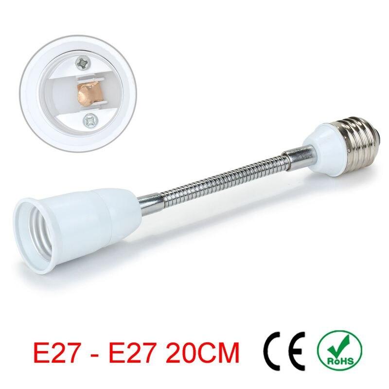 50 шт. E27 к E27 20 см удлинитель гибкий переходник держатель лампы конвертер лампы База ...