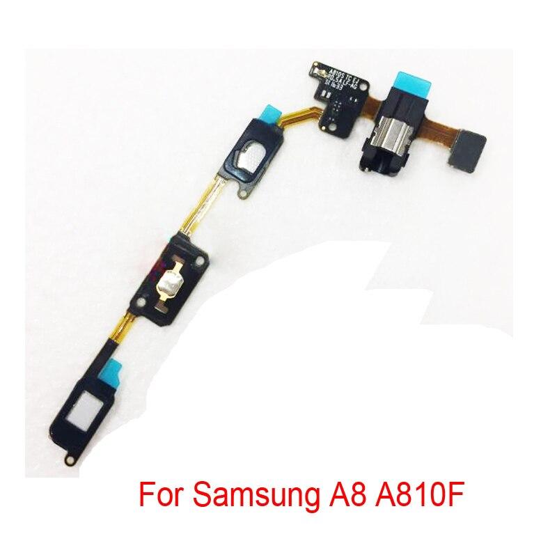 Новый для samsung Galaxy A8 2016 A8100 A810F возврата Key Главная Кнопка Сенсор Наушники Audio Jack разъем для наушников шлейф