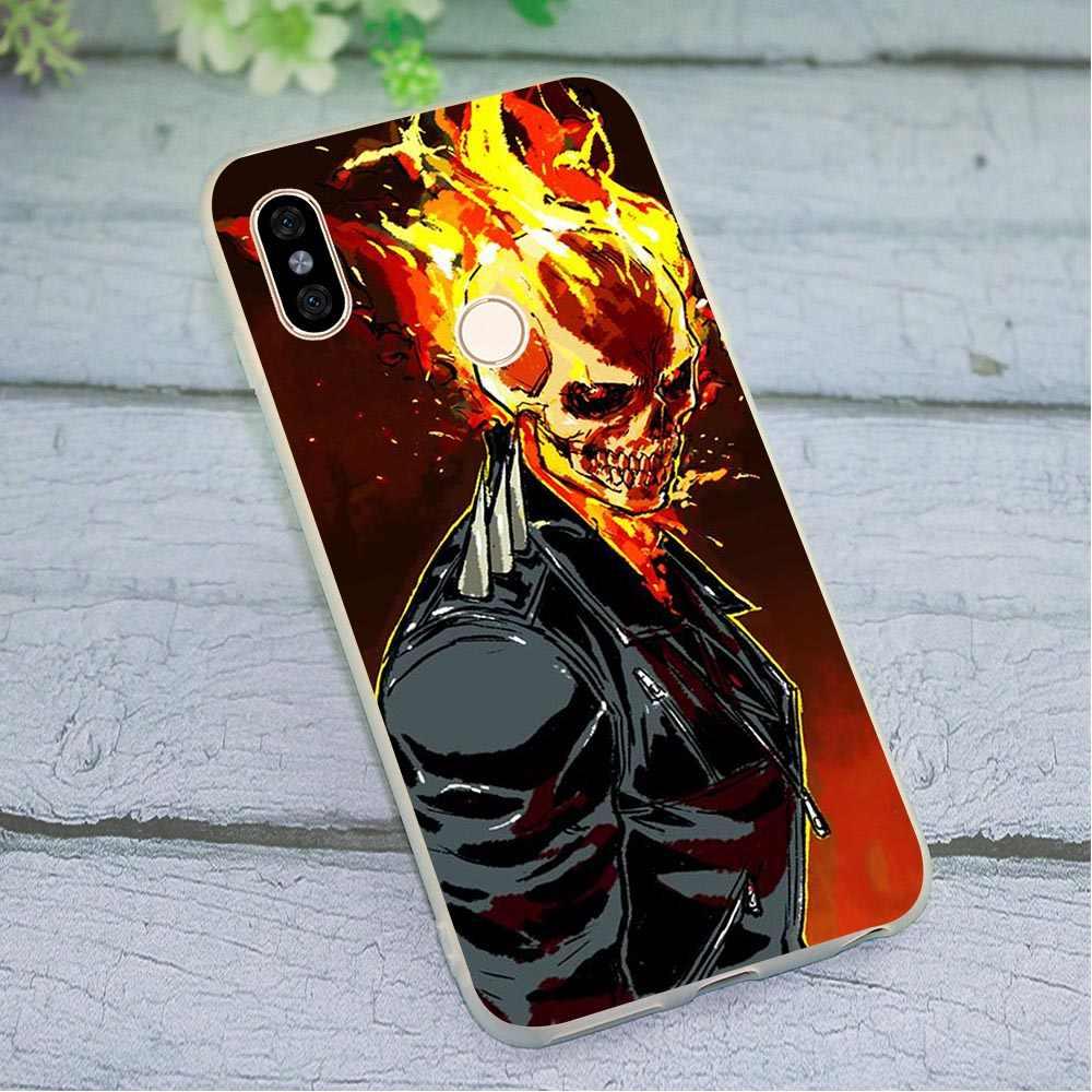 Capa de Silicone TPU macio para Xiao mi mi 9SE Passeio Fantasma Caso Telefone para Red mi 4X 4A 5 5A além de 6 Nota 4 7 Pro A1 A2 Lite 8 SE