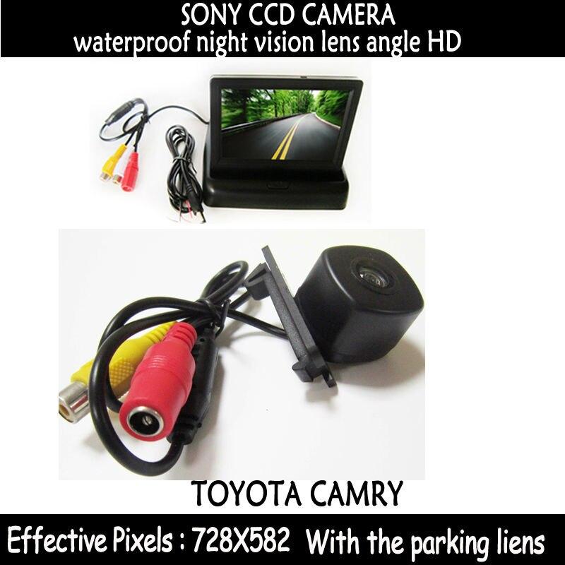 HD CCD Автомобильная камера заднего вида для Toyota camry2008 заднего хода парковочная камера ночного видения с зеркалом заднего вида монитор