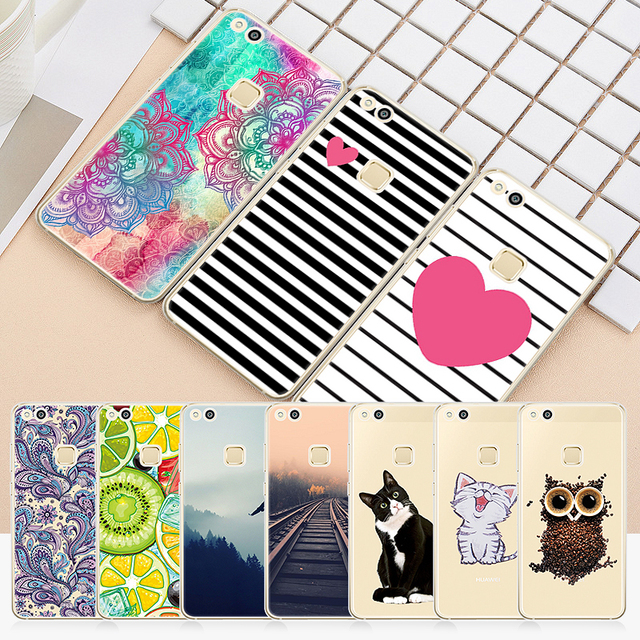 Soft TPU Phone Case For Honor 10 9 8 Lite 7X for Huawei P20 P10 Lite P9 P8 Mate 10 Lite P20 Pro P10 P Smart Pattern Back Cover