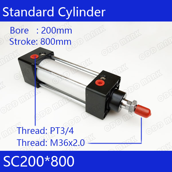 SC200*800 200mm Bore 800mm Stroke SC200X800 SC Series Single Rod Standard Pneumatic Air Cylinder SC200-800 sc200 300 200mm bore 300mm stroke sc200x300 sc series single rod standard pneumatic air cylinder sc200 300