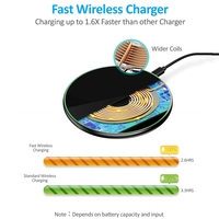 15W QI Quick Charging Wireless Fast Charger Usb Tpye C 10W QC 3.0 Charge For iPhone 11 Pro XS XR X 8 Samsung S10 S9 Xiaomi mi 9 2