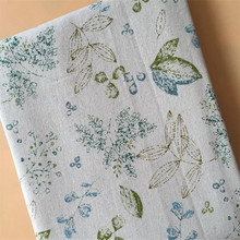 Printed Cotton Linen Fabric DIY Patchwork Sewing Canvas Floral For Textile Pillowcase Tablecover