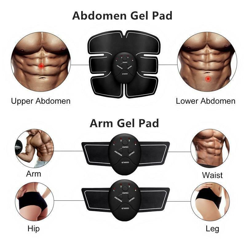 Unisex Wireless EMS Abdominal Muscle Toning Belt Stimulator 5