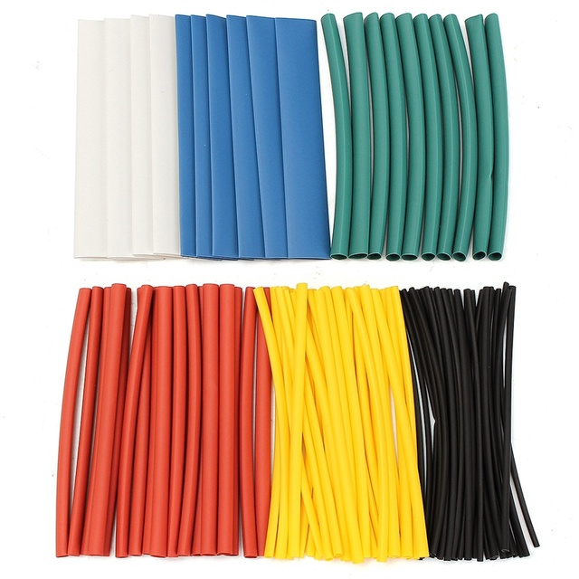 100Pcs Assorted Halogen-Free 2:1 Heat Shrink Tube Tubing Wire Cable Sleeving for Wrap Wire Set Tubing Wrap Sleeve