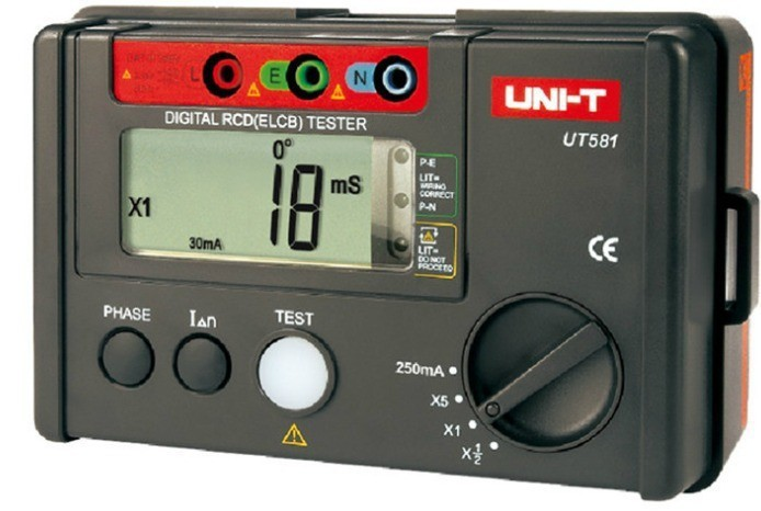 UNI-T UT581 leakage protection switch tester Current 10/500mA Voltage of 195-253V