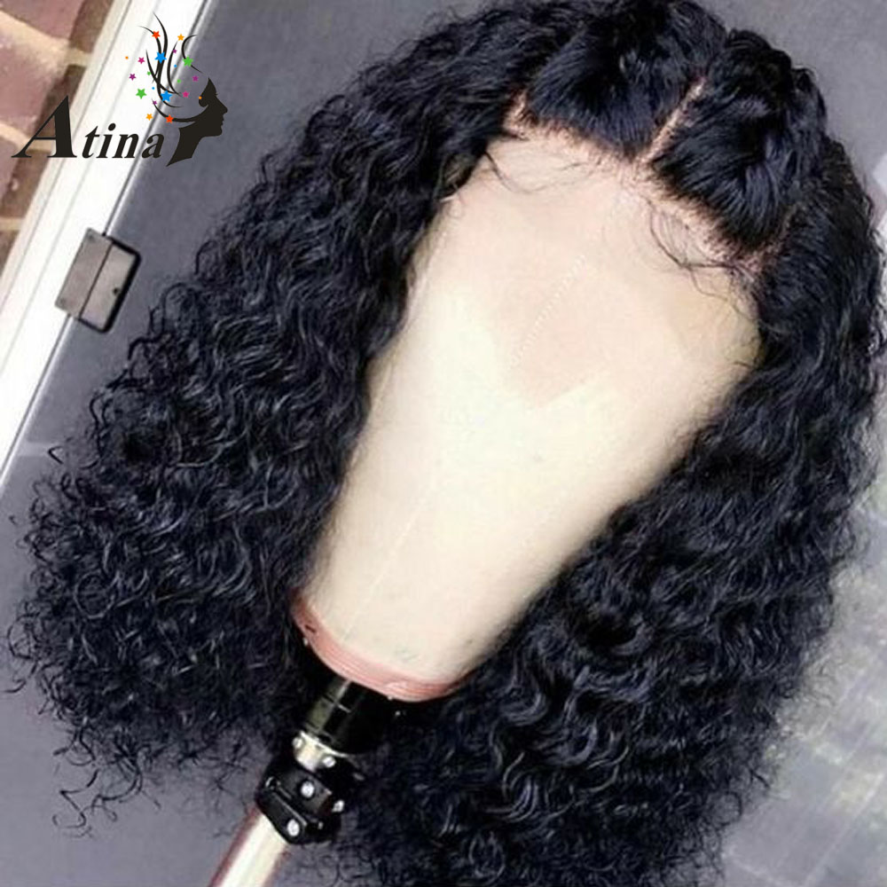 Wet And Wavy Curly Short Lace Front Human Hair Bob Wig 13