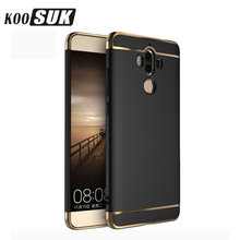 Huawei Ascend Mate9 Mate8 Mate7 Phone Protector Case For Huawei mate 9 8 7 Back Cover 3 in 1 Gold plated Hard Shell Black Coque